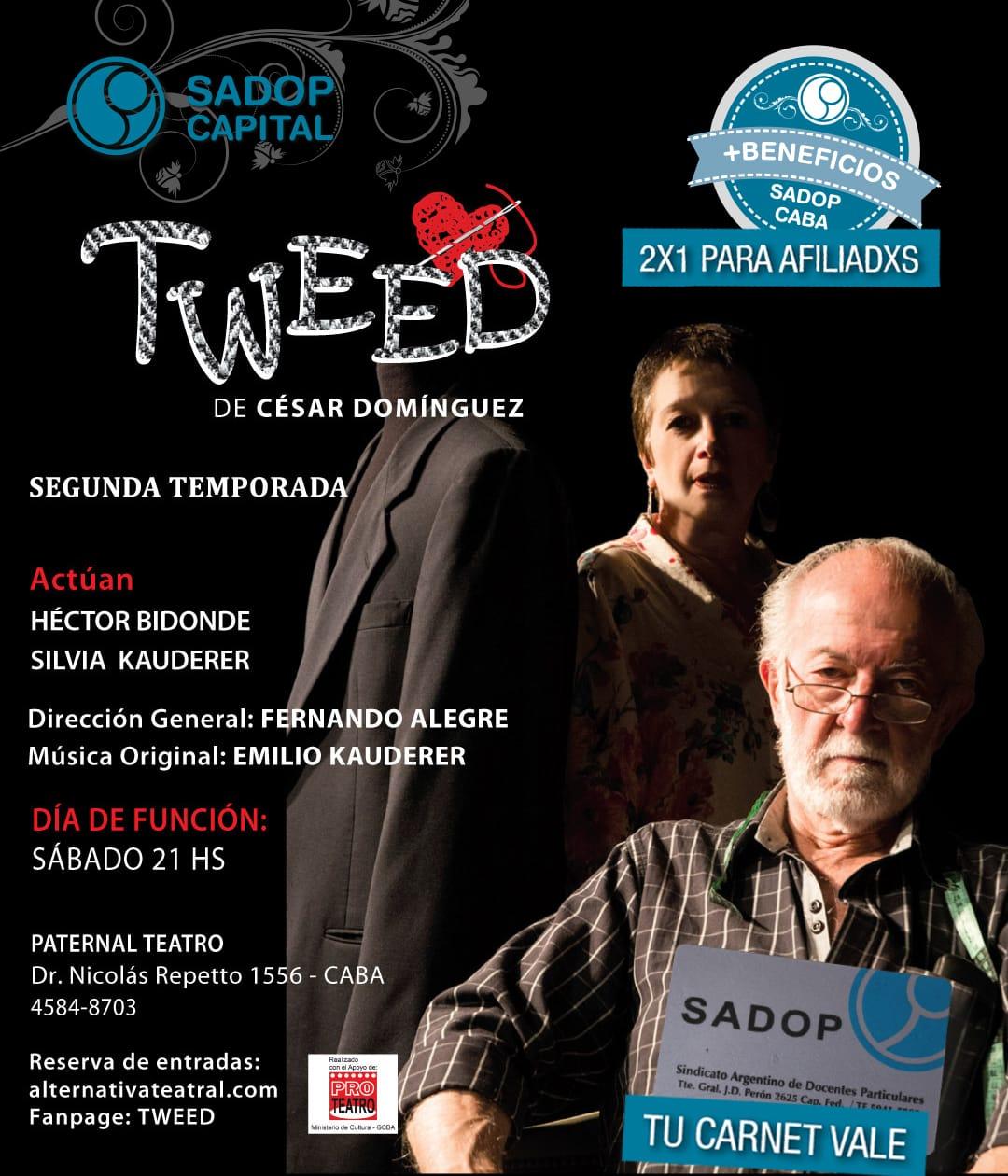 En este momento estás viendo Más Teatro 2X1 para Afiliados SADOP CABA