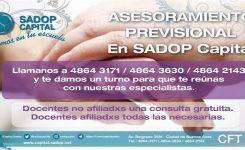 Asesoramiento Previsional en SADOP Capital