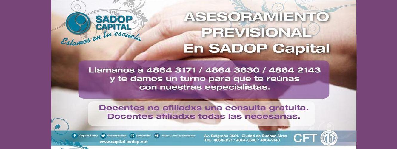 En este momento estás viendo Asesoramiento Previsional en SADOP Capital