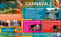Te acercamos las mejores ofertas para disfrutar el carnaval
