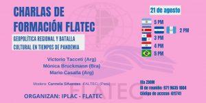 Lee más sobre el artículo Charlas de Formación FLATEC