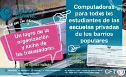 Entrega de netbook a alumnxs de barrios populares, otro derecho reparado a fuerza de militancia