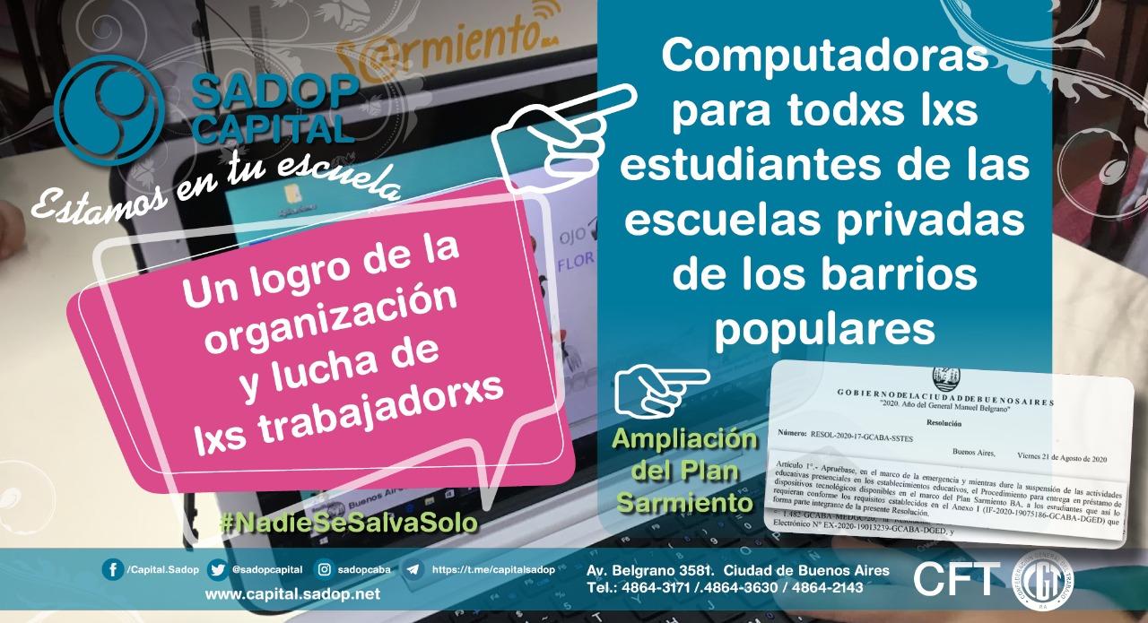 En este momento estás viendo Entrega de netbook a alumnxs de barrios populares, otro derecho reparado a fuerza de militancia