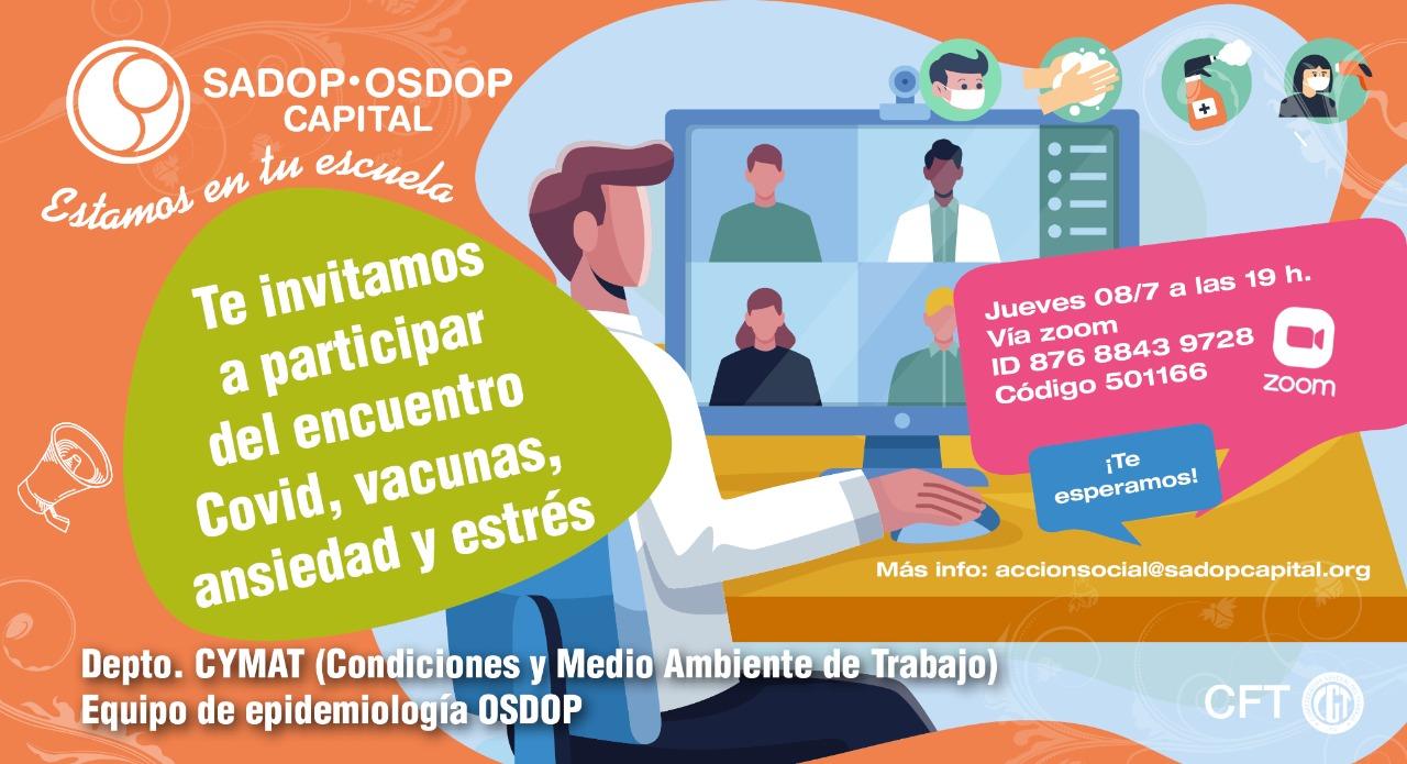 En este momento estás viendo Te invitamos a participar del encuentro COVID, vacunas, ansiedad y estrés.