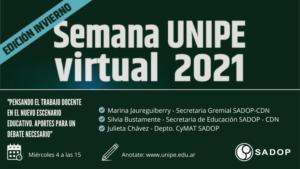 Lee más sobre el artículo SADOP en la Semana UNIPE Virtual 2021