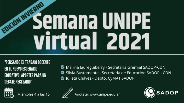 En este momento estás viendo SADOP en la Semana UNIPE Virtual 2021